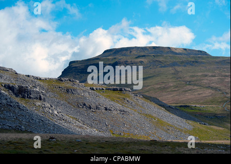 Ingleborough from Crina Bottom. Ingleton, Yorkshire Dales National Park, North Yorkshire, England, United Kingdom, - Stock Photo