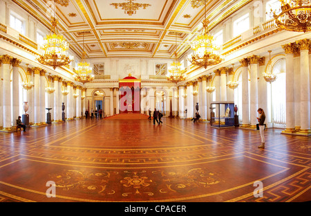 Russia. St. Petersburg. George Hall of the Hermitage. - Stock Photo