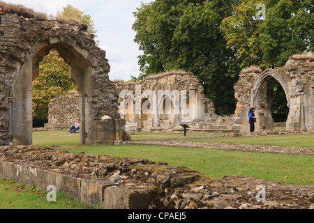 Hailes Abbey, Cheltenham, England. Founded as a Cistercian Cloister in 1246 by Earl Richard of Cornwall - Stock Photo
