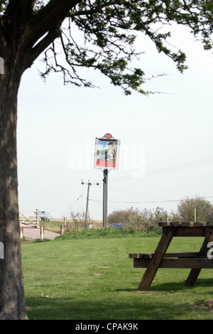 Sign for The Sportsman Gastropub, Seasalter, Kent, England, UK - Stock Photo