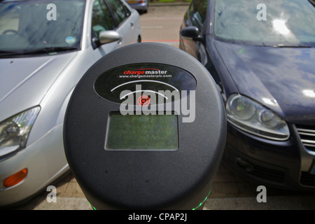 A Charge Master charging point for electric vehicles, Milton Keynes, England - Stock Photo