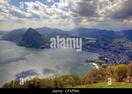 Monte Bre, Lugano, Ticino, Switzerland - Stock Photo