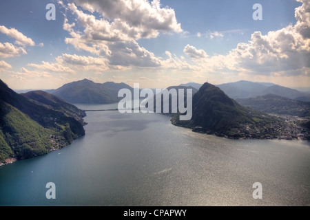 Monte Bre, Lugano, Ticino, Switzerland - Stock Photo