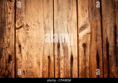 Old Wooden Planks and Nails - Stock Photo