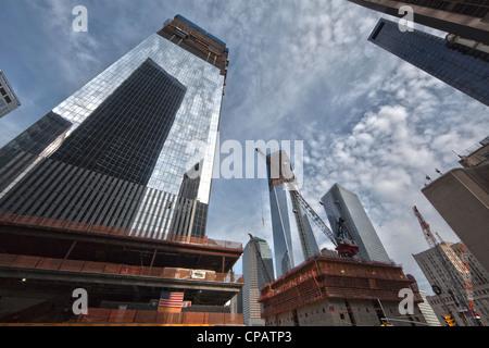 Construction at the World Trade Center, Ground Zero in Lower Manhattan, New York City - Stock Photo