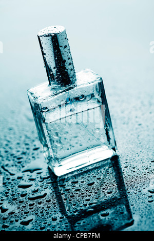bottle of clear perfume - Stock Photo