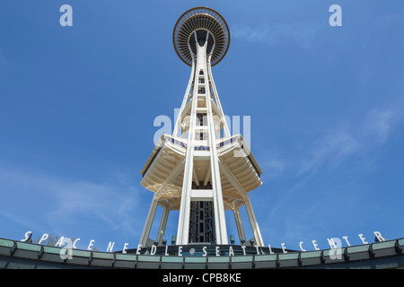 Space Needle Seattle Center - Stock Photo