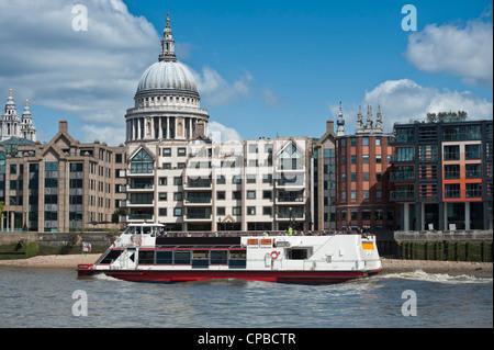 City Cruises Thames River Boat Tour Passing The London Eye