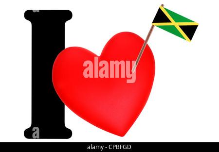 Love Jamaica Heart Flag Icon Stock Photo 93389523 Alamy