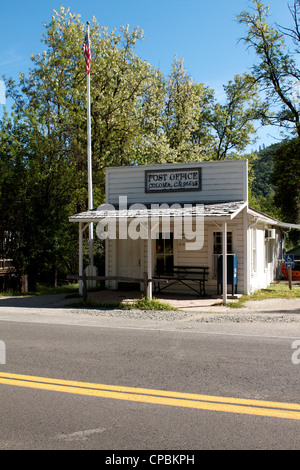 The US Post Office at the Marshall Gold Discovery state historic park in Coloma - Stock Photo