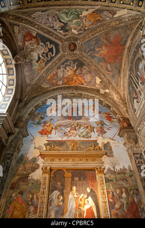 Rome - fresco - side chapel of Santa Maria sopra Minerva church - Stock Photo