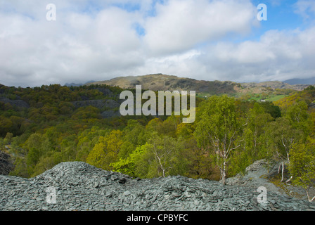 Spoil Heap Near Hodge Close Slate Quarry Tilberthwaite Coniston Lake District National
