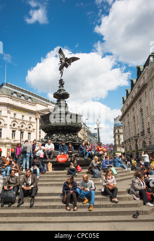 Picadilly circus, London, England. - Stock Photo