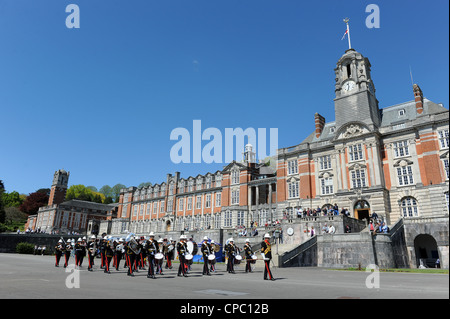 Band of the Royal Marines at Britannia Royal Naval College Dartmouth UK during Dart Music Festival - Stock Photo