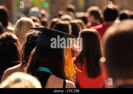 College graduation commencement ceremony. - Stock Photo