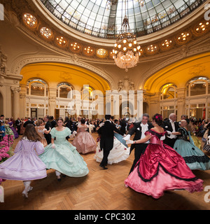 The great fancy dress ball (Second Empire period dress), on the occasion of the event: 'Vichy celebrates Napoleon - Stock Photo