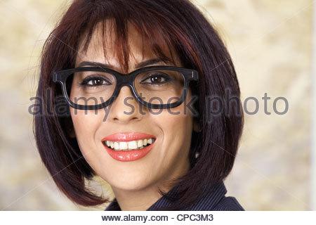 Pretty woman in glasses - Stock Photo
