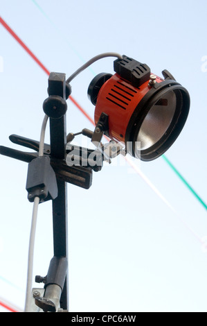 tungsten red heads head redheads redhead video lights light lighting constant source halogen colour color temperature - Stock Photo