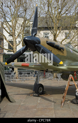 Replica Hawker Hurricane mark 1 plane York North Yorkshire England UK United Kingdom GB Great Britain - Stock Photo