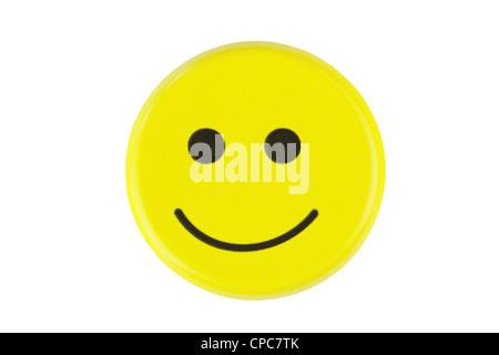 emoticon on a white background - Stock Photo