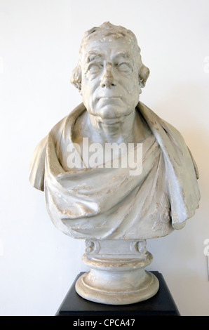 Bust  of Vice Admiral Admiral John Jervis, 1st Earl St Vincent 1735-1823 by Sir Francis Chantrey (1781-1841) - Queen's - Stock Photo