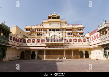 Chandra Mahal or Chandra Niwas is the most commanding building in the City Palace complex, - Stock Photo