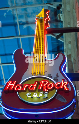 Hard Rock Cafe Sign, The Printworks, Manchester - Stock Photo