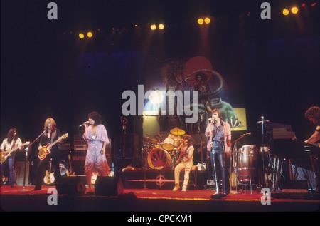 JEFFERSON STARSHIP US rock group about 1974. Photo Jeffrey Mayer - Stock Photo