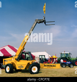 Yellow Matbro T5270 telescopic handler at the Gransden and District Agricultural Show Cambridgeshire England - Stock Photo