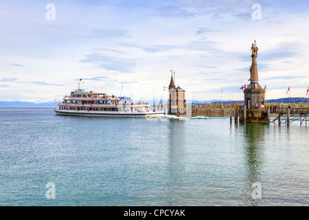 Evening, Harbour, Konstanz, Baden-Wurttemberg, Germany - Stock Photo