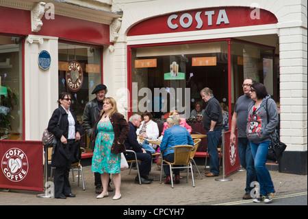 COSTA COFFEE on high street at Ludlow Shropshire England UK - Stock Photo