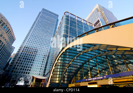 Canary Wharf Station, Isle of Dogs, Docklands, London, England, United Kingdom, Europe - Stock Photo