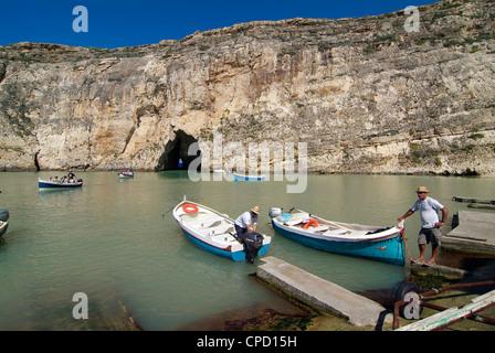 Inland Sea, Dwejra Bay, Gozo, Malta, Mediterranean, Europe - Stock Photo