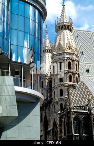 Haas Haus and Stephansdom, Vienna, Austria, Europe