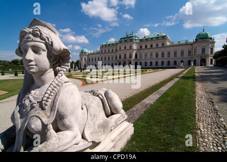 Belvedere Palace, UNESCO World Heritage Site, Vienna, Austria, Europe - Stock Photo