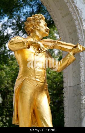Johann Strauss statue at Stadtpark, Vienna, Austria, Europe - Stock Photo