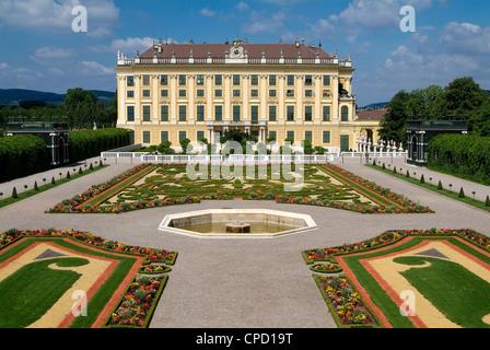 Schonbrunn Palace, UNESCO World Heritage Site, Vienna, Austria, Europe - Stock Photo