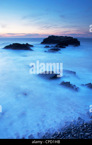 Hartland Quay, Devon, England, United Kingdom, Europe - Stock Photo