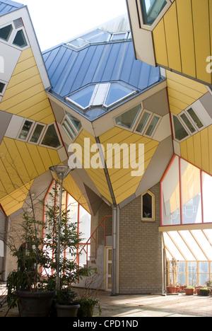 Cubic House (Kubuswoningen), designed by Piet Blom, Rotterdam, Netherlands, Europe - Stock Photo