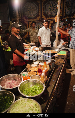 Curry being cooked at local rural fair, Sejpur, Gujurat, India, Asia - Stock Photo