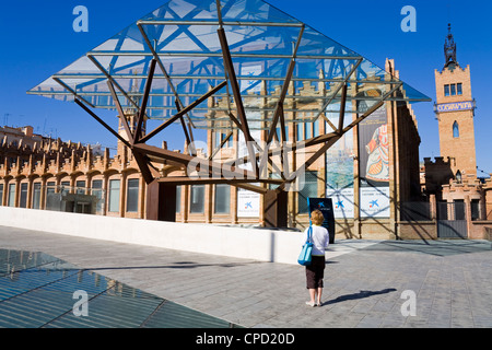 CaixaForum in the Montjuic District, Barcelona, Catalonia, Spain, Europe - Stock Photo