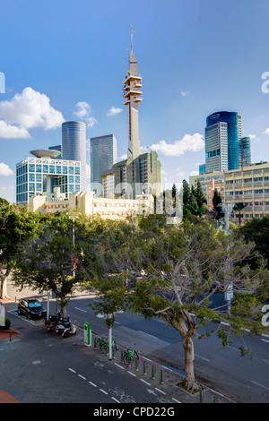 Skyline, Tel Aviv, Israel, Middle East - Stock Photo
