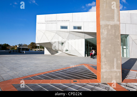Exterior of the new Herta and Paul Amir building of the Tel Aviv Museum of Art, Tel Aviv, Israel, Middle East - Stock Photo