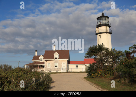 Cape Cod Highland Lighthouse, Highland Light, Cape Cod, North Truro, Massachusetts, New England, USA - Stock Photo