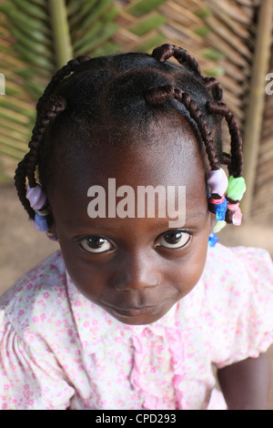 African girl, Lome, Togo, West Africa, Africa Stock Photo