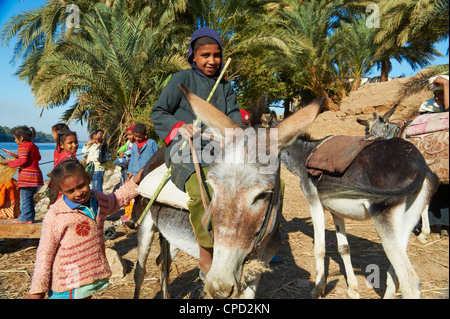 Ramadi village, Nile Valley between Luxor and Aswan, Egypt, North Africa, Africa - Stock Photo