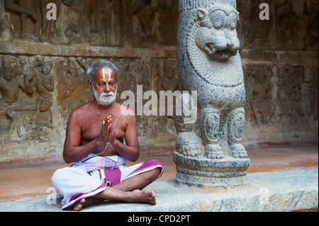 Vaikunta Perumal temple, Kanchipuram, Tamil Nadu, India, Asia - Stock Photo
