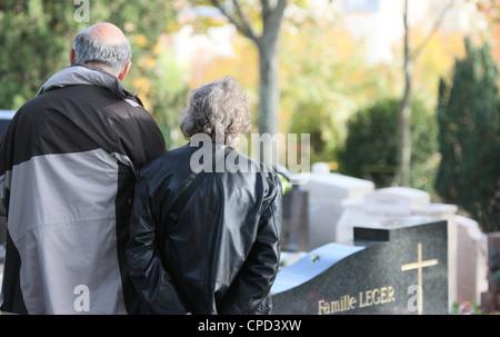 Pere Lachaise graveyard, Paris, France, Europe - Stock Photo