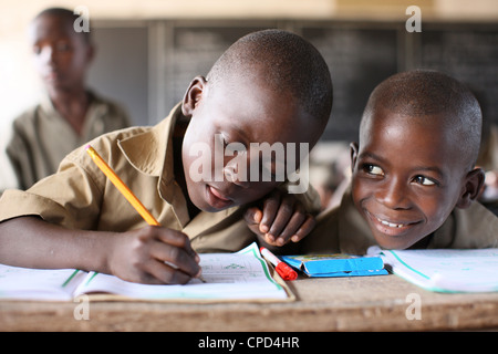 Primary school in Africa, Lome, Togo, West Africa, Africa - Stock Photo