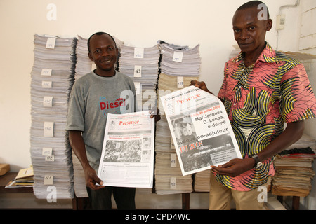 Catholic press, Lome, Togo, West Africa, Africa - Stock Photo